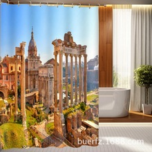 Ancient Rome construction site print  shower curtain waterproof curtain 3D shower curtain for bathroom free shipping