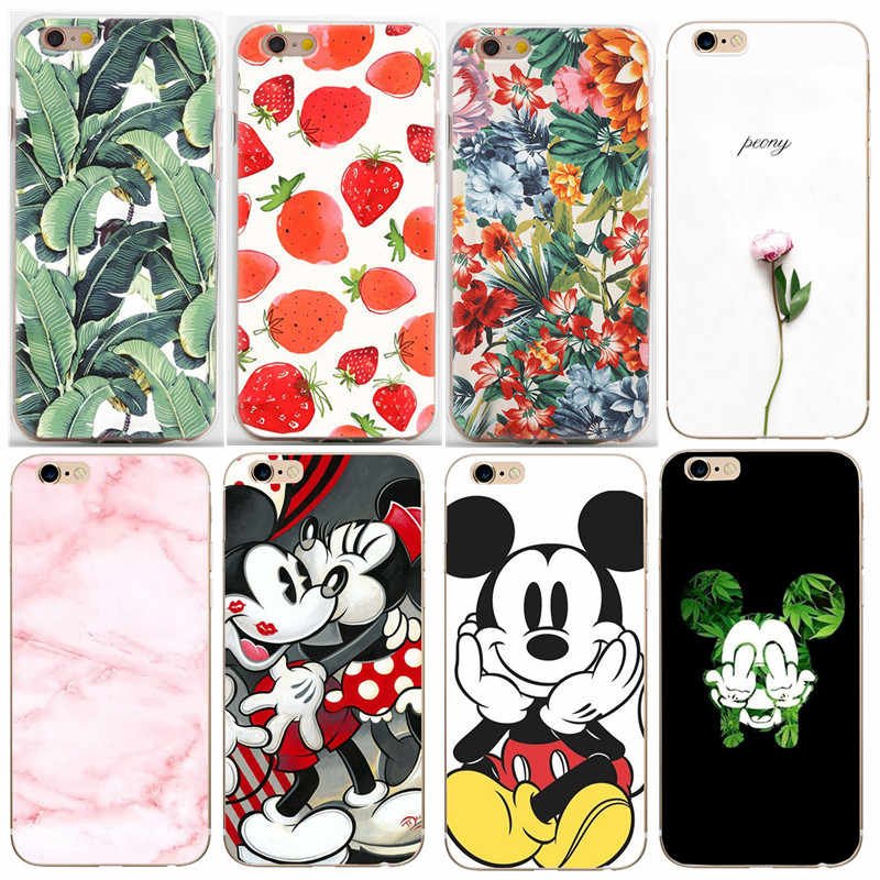Fashion Artistic Leaf Phone Case For iPhone 6S 7 8 Plus Soft TPU Bags For iPhone 6 S XS X 5 5S SE leaves Back Cover Funda Shell