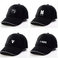 10style black print   Cap   Brand bts   Baseball     Cap   for Men Women Dad   Cap   trucker Bone Snapback Hats Masculino casquette hip hop