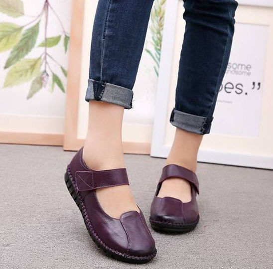 GYKZ 2018 New Hot Sale Handmade Soft Shoes Woman Genuine Leather Women Shoes Comfortable Loafers Women's Flat Shoes Fashion Wome new hot sale women shoes breathable buckle slip on for women comfortable dress shoes genuine leather white colour free shipping