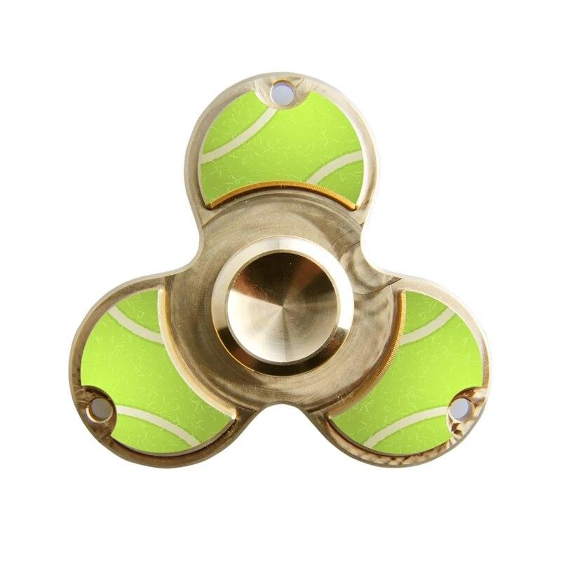 Fidget Spinner Football Basketball Pure Copper American Trefoil Fingertip Gyro Thumb Spiral EDC Adult Spherical Anti