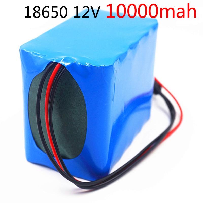 12 V 10ah 100% new high capacity protection 3 S 5 P 11.1V 12.6V 18650 lithium rechargeable battery 12V 10000 mAh Capacity Hot