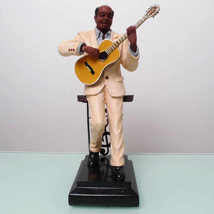 Jazz Band Resin Guitar Player Portrait Figurine Music