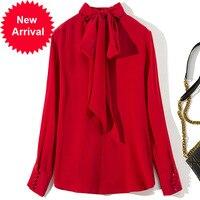 Супер качество C7209 2019 весна лето новый назад галстук обжимной Модная рубашка Blusa Feminina Женские Длинные рукава блузки рубашки Длинные Сексуал