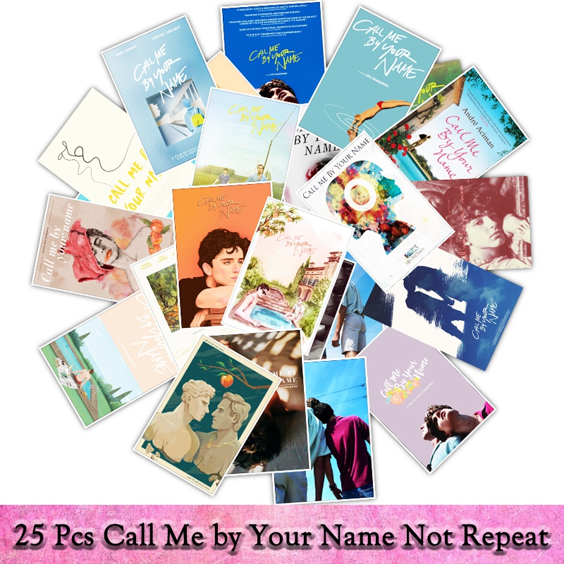 25pcs/pack Movie Call Me By Your Name Graffiti Sticker Toys The Suitcase Stickers For Laptop Decals Stickers