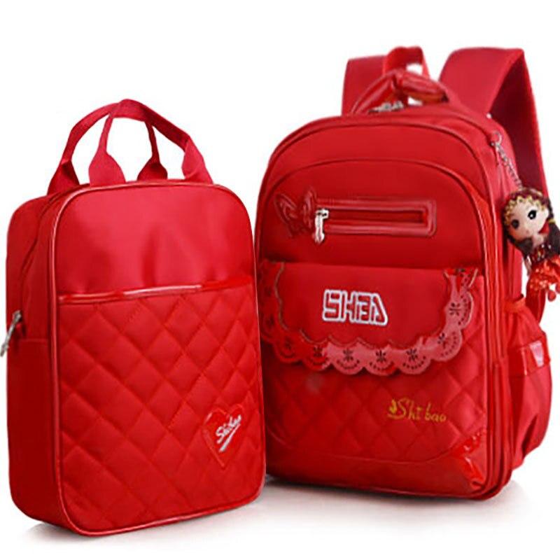 Waterproof Children School Bags Girls Kids Princess School Backpack Set Orthopedic Backpack Schoolbags Kids Mochila Infantil Zip
