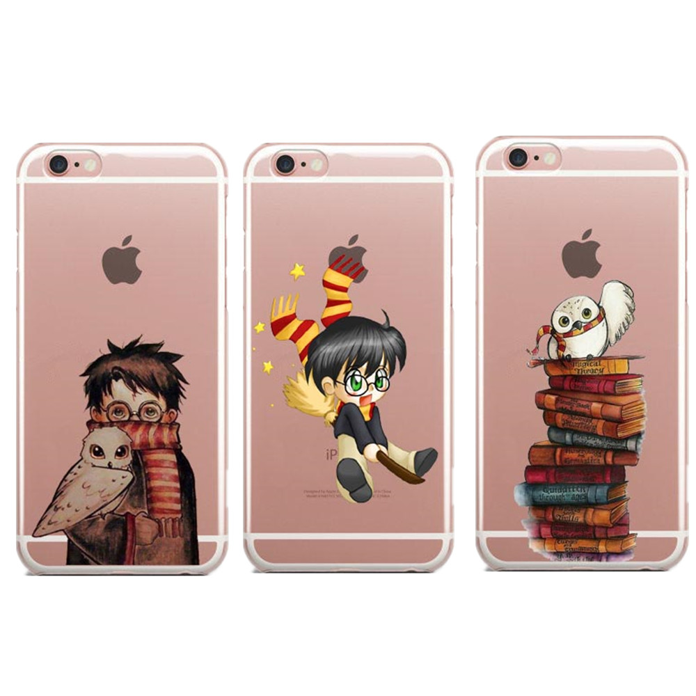 Owl Harry Potter Book marks Coque for iphone 6 6S 7 Plus 5 5S SE Soft Silicon tpu for Samsung S8 For Huawei P8 Lite 2017 Cover