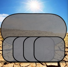 5 個 3D 光触媒メッシュ太陽バイザーウィンドウ画面サンシェードと吸引カップフロントリアサイドカーテン車スタイリングカバー日よけ