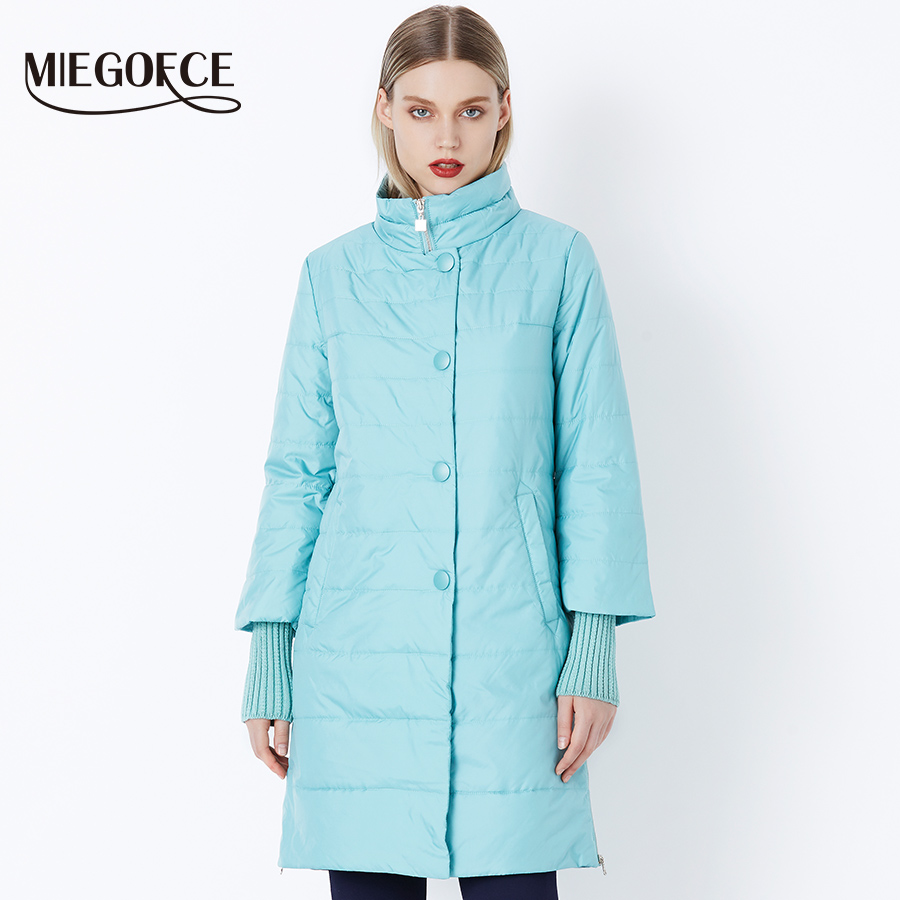 MIEGOFCE 2018 New Spring Parka Jacket Women Winter Coat Womens Medium-Long  Cotton Padded Warm 0269a014ce1d