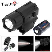 TrustFire Mini Waterproof XP G R5 LED Tactical Flashlight Torch Lamp 2 Mode Military Weapon Flash Light + CR2 3V Lithium Battery