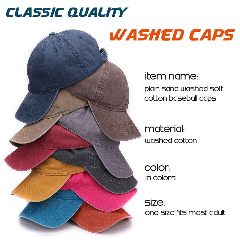 Sand Washed Caps