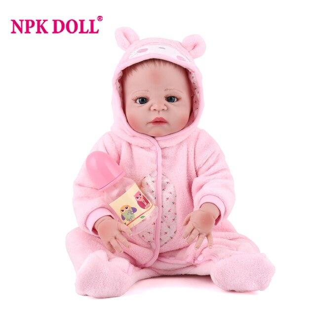 Baru Lahir Penuh Badan Silikon BEBE Doll Reborn 22 Inch Vinil Realistic  Tertagih Doll Reborn Bayi f9f660dd32