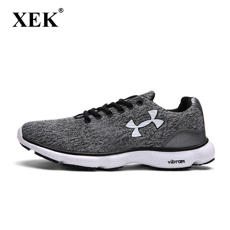 XEK 2018 Size Plus Sneakers Breath Jogging for men sports running Shoes Fly Weave Mens Trainers Walking Sport Gym Shoes GSS10