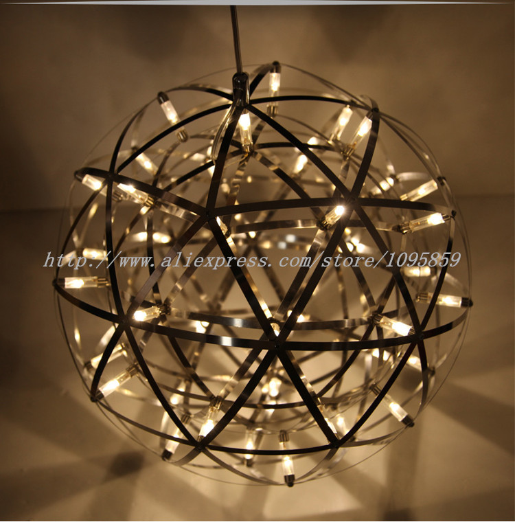 Modern Nordic Stainless Steel Ball LED Pendant Lights Lamps Fireworks Ceiling
