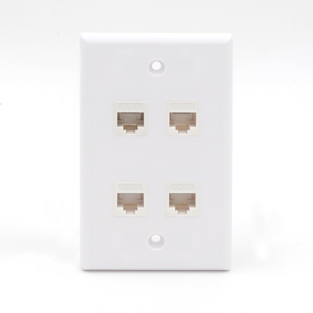 VCE 4 Port Cat6 Female to Female Wall Plate White on Aliexpress.com ...