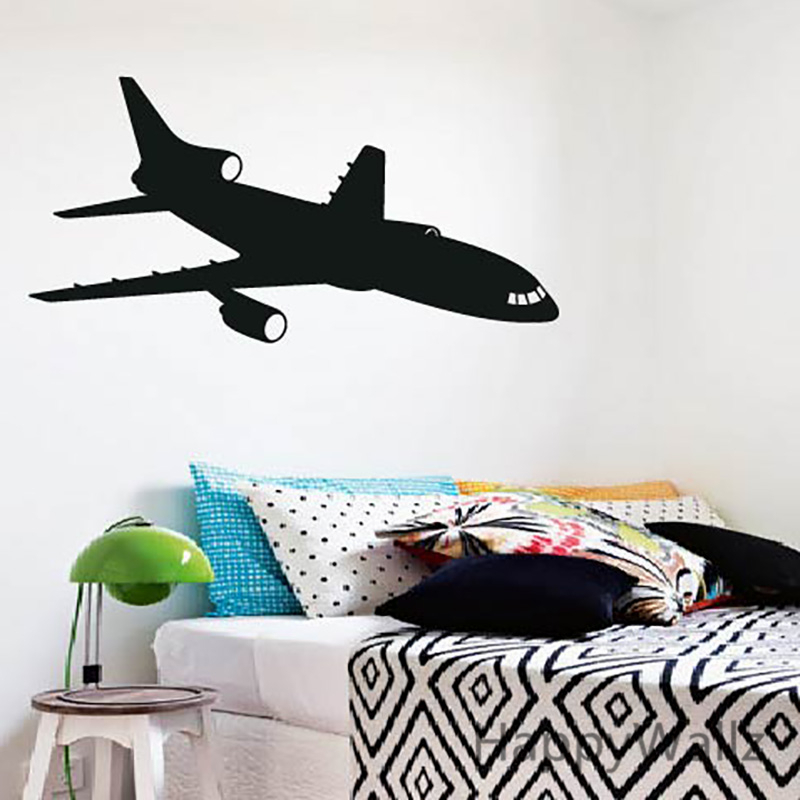 3d airplane wall sticker modern wall decal diy decorating airplane