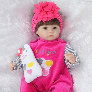 "Realtouch 17"" 42cm Silicone adora Lifelike Bonecas Baby newborn realistic magnetic pacifier bebe reborn dolls babies toy 1"