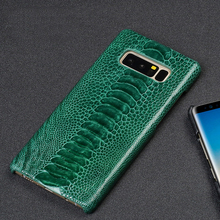 Natural ostrich skin Genuine Leather protective case for Samsung S10 9 8 plus High end Anti-fall For note10 A70 A50