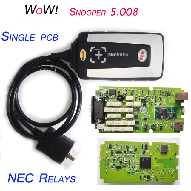 US $61 95 |2018 Best Quality WOW Snopper Single PCB CDP TCS Car Diagnostic  Tool wow wurth V5 00 8R2 Software WoW Snooper Scanner Free ship-in Car