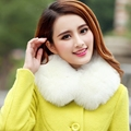 Hot sale new arrival fall and winter women's faux fur collars,Fox fur o-neck scarf Elegant ladies classic fashion plush scarves