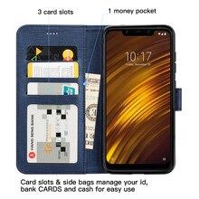 Для Xiaomi Mi Pocophone F1 чехол для телефона флип бумажник роскошные кожаные pocp телефон f1 мягкий чехол Полный PocophoneF1 защитный кожух