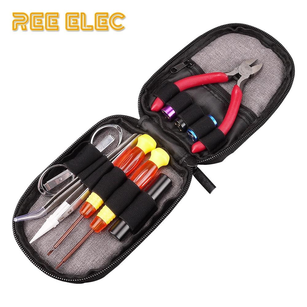 REE ELEC Electronic Cigarette Accessory Tools Kit Prebuilt Coil Vape Pen Jig Piler RDA RTA Atomizer DIY Supply