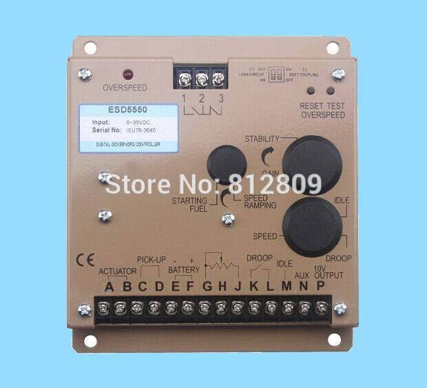 Generator Speed control unit ESD5550E+fast cheap shipping fast shipping unit price portable generator 3500 2 5kw 168f gx200 recoil starting ohv 6 5hp single phase 220v 50hz