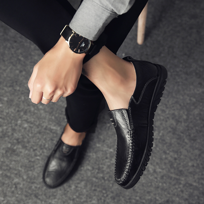 HTB19kdZaULrK1Rjy0Fjq6zYXFXag Genuine Leather Men Casual Shoes Luxury Brand Designer Mens Loafers Moccasins Breathable Slip on Driving Shoes Plus Size 37-47
