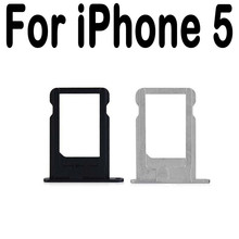 Micro SIM Card Holder Tray Slot for iPhone 5 5S 5C Replacement Adapter Sim Card Tray 80 stainless steel replacement micro sim card tray slot for iphone 4 silver