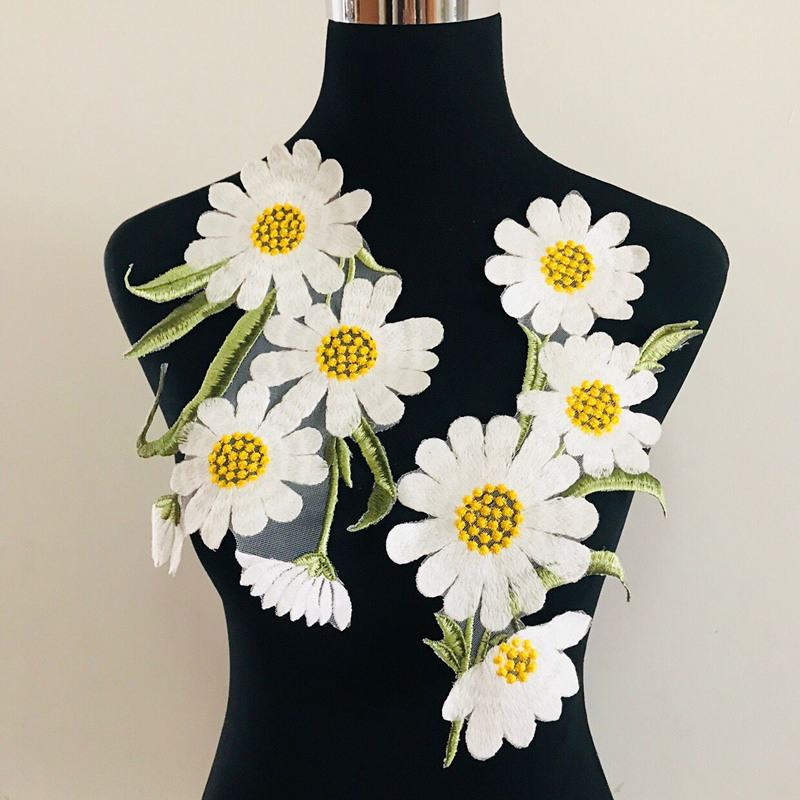 1PC White Daisy Petal Applique for Dress Deco