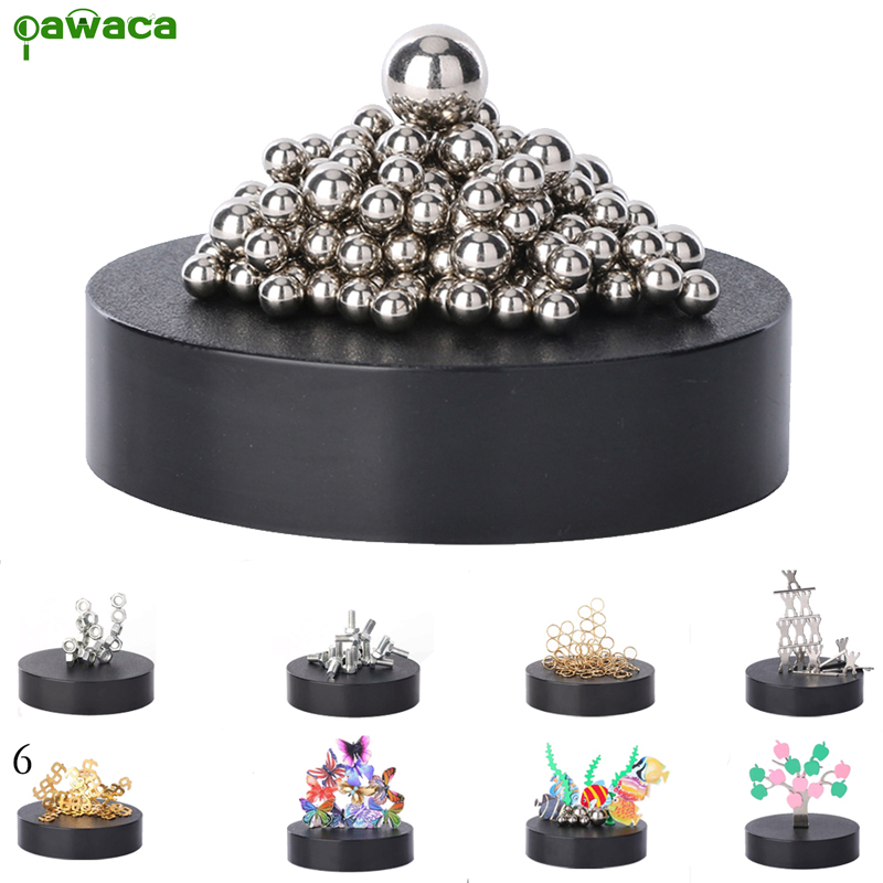 Magnetic Sculpture Desk Toy Diy Home Decoration Art Kids Educational Toys Metal Craft Figurines Gift In Miniatures From