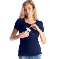 Summer Cotton Maternity Nursing T-shirt Breastfeeding Top Tees Clothes For Pregnant Women Pregnancy Nurse Wear Clothing 2017