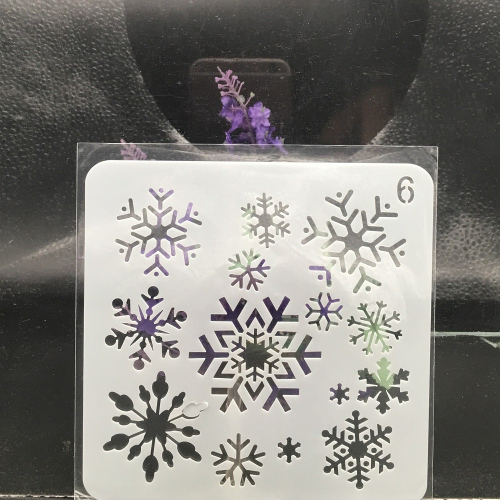 13cm Snowflake Christmas DIY Layering Stencils Wall Painting Scrapbook Coloring Embossing Album Decorative Card Template