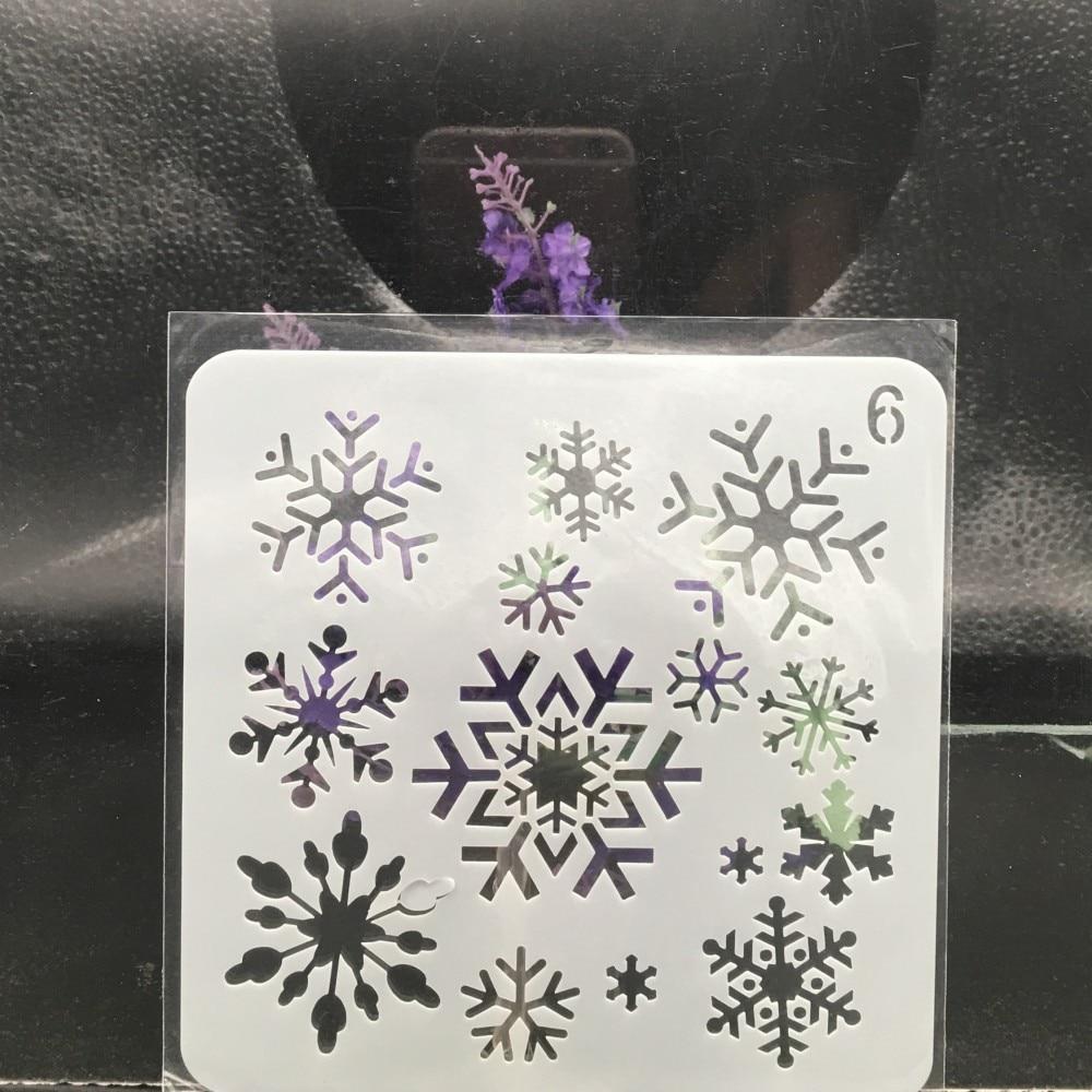 13cm Snowflake Christmas DIY Layering Stencils Wall Painting Scrapbook Coloring Embossing Album Decorative Card Template