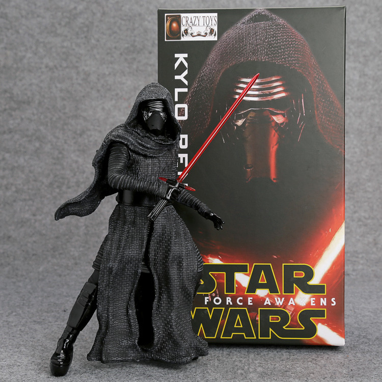 Crazy Toys Star Wars The Force Awakens KYLO REN PVC Action Figure Collectible Model Toy 22cm Retail Box WU136 2016 new 26cm movie the force awakens the black series kylo ren cartoon toy pvc figure model action figures