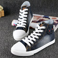 Free Shipping  Fashion Denim Shoes  Canvas High-top Breathable Casual Lacing Outdoor Shoes Size 35~40