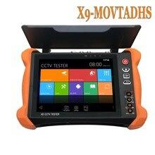 Wanglu المهنية أدوات اختبار الدوائر التلفزيونية المغلقة X9 8 بوصة H.265 4K 8MP TVI CVI AHD SDI CVBS IP فاحص الكاميرا رصد مع TDR ، كابل التتبع