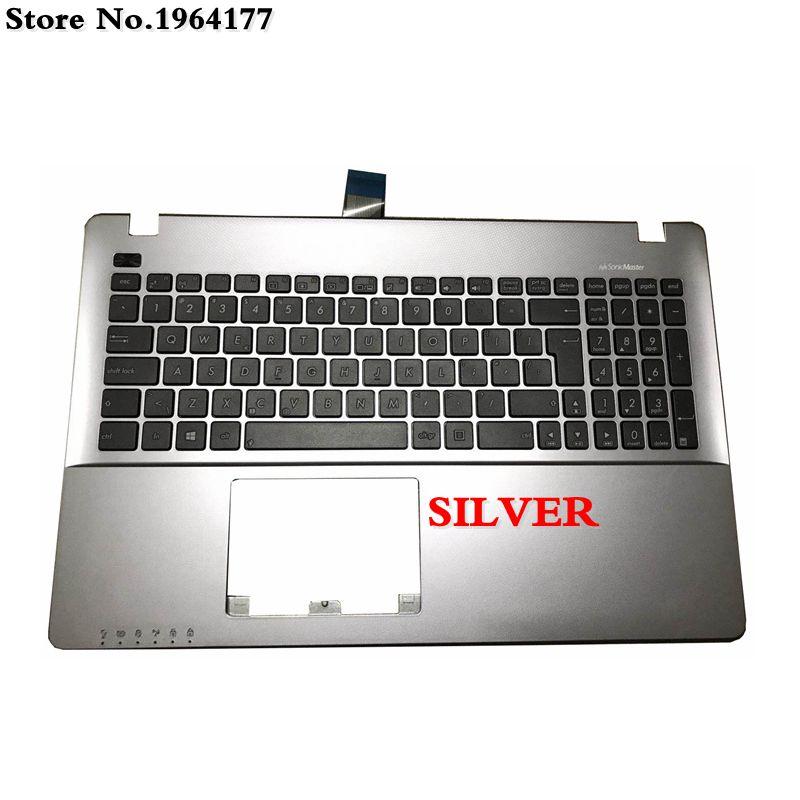 NEW for ASUS N550JV N550JX N750JK N750JV Keyboard Backlit Latin Spanish Silver