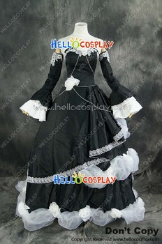 Vocaloid 2  Kagamine Rin Black Formal Outfit Cendrillon Cosplay Costume H008