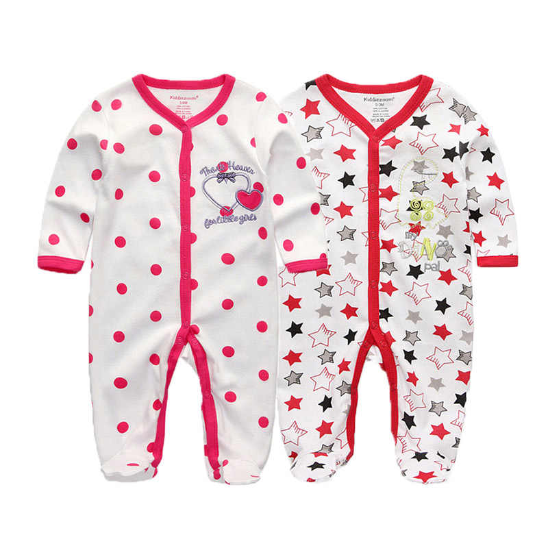 2 шт./лот/партия, зимние комбинезоны с длинными рукавами для новорожденных, комбинезон, 2019 rompertjes, хлопковая одежда для маленьких мальчиков и девочек, ropa bebe