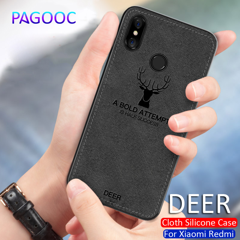 Shockproof Cloth Silicone Case For Xiaomi Redmi 5 5A 6 6A 6 Pro Redmi 5 Plus Deer Back Cover For Redmi Note 5 5A Phone Shell Bag