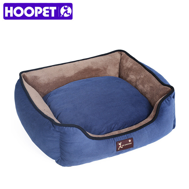 HOOPET Dog Bed Dog Cat Detachable Soft Warm All Season Blue Pet Sofa Bed House Round