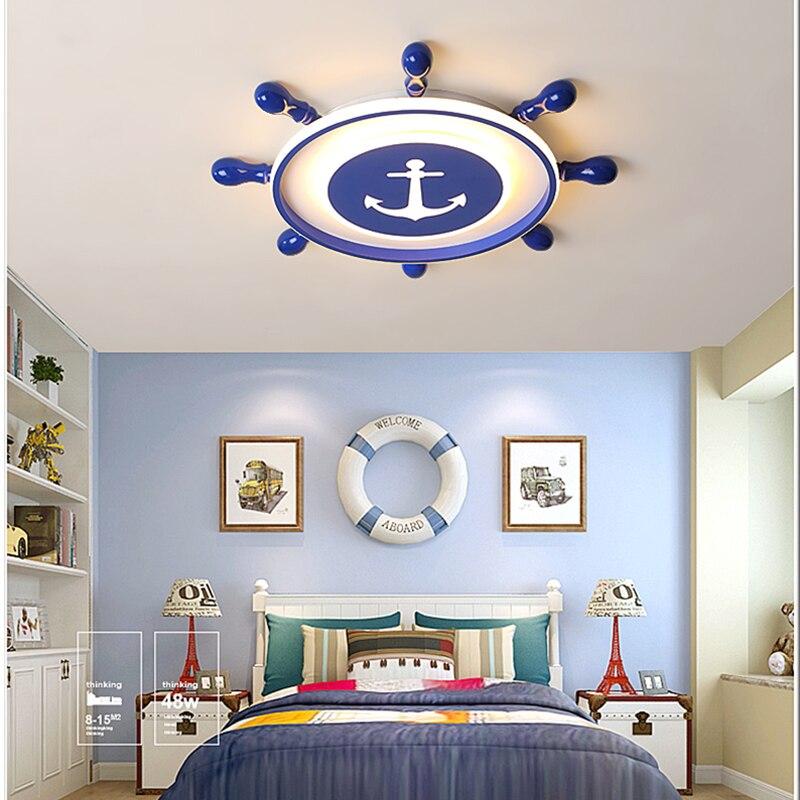 Nouveau Pirate rêvant lustre Led moderne pour chambre d'enfant chambre d'enfant AC85-265V déco lustre iluminacion led