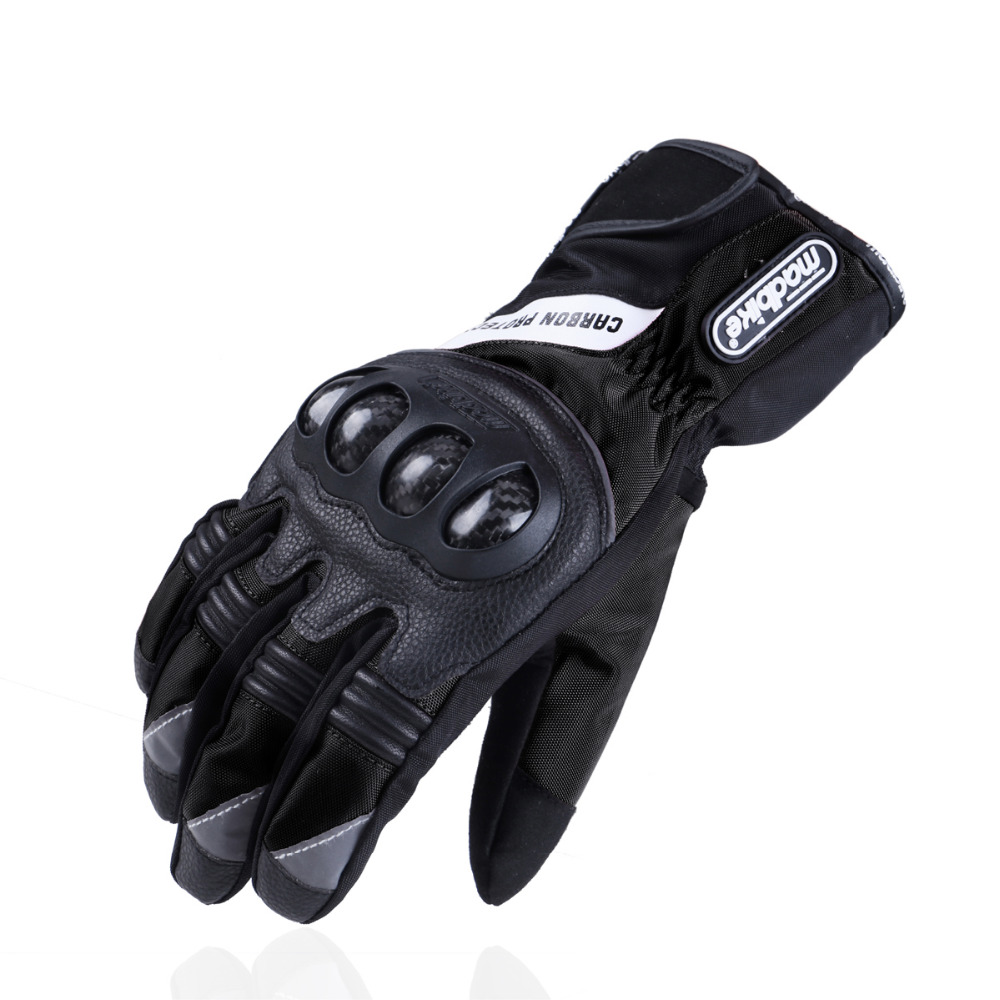 Madbike winter carbon protection motorcycle <font><b>gloves</b></font> waterproof luva motocicleta motorbike motocross <font><b>gloves</b></font> guantes moto racing XL