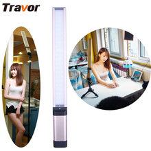 Travor New arrival L2S led video light 66 LED adjustable Color Temperature with three Color Filters rechargeable 18650 battery