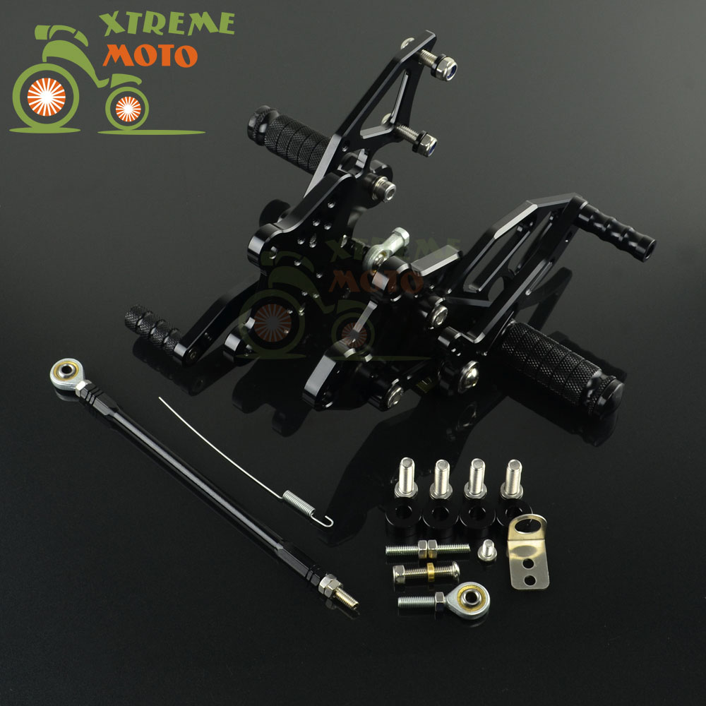 CNC Adjustable Motorcycle Billet Foot Pegs Pedals Rest For KAWASAKI Ninja 300 2013 2016 13 14