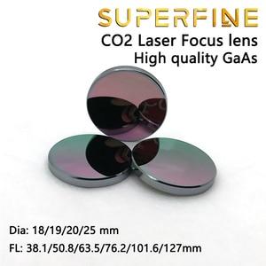 """Image 5 - Objectif de mise au point GaAs super fine Dia. Machine de découpe Laser CO2, 18 19 20 25mm FL 50.8 63.5 101.6mm 1.5 4"""""""