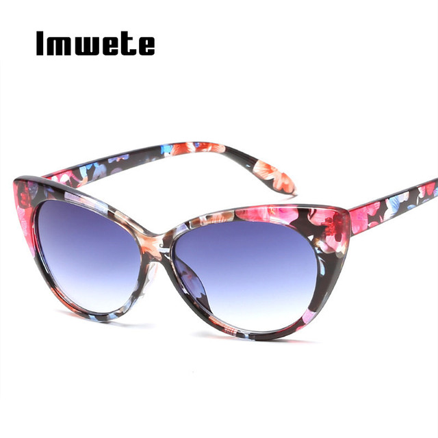 e467b05c0 Imwete Clássico Olho de Gato óculos de Sol Retro Mulheres óculos de Sol  Óculos De Lente