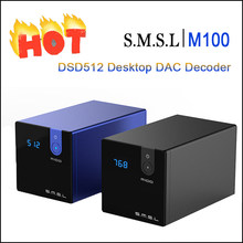 SMSL M100 Audio DAC USB AK4452 HI FI Decoder DSD512 SPDIF USB DAC Amp Xmos XU208 Amplifier Digital Optik Koaksial Masukan(China)