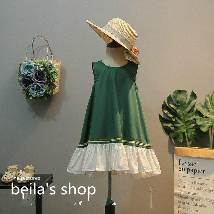 2018 summer new elegant and beautiful girl hit color atmosphere romantic lotus hem dress A word dress